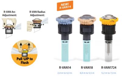Ротиращи дюзи за разпръсквачи Rain Bird R-VAN серия 1800 и Uni-Spray от ИРИГЕЙТ ООД Пловдив
